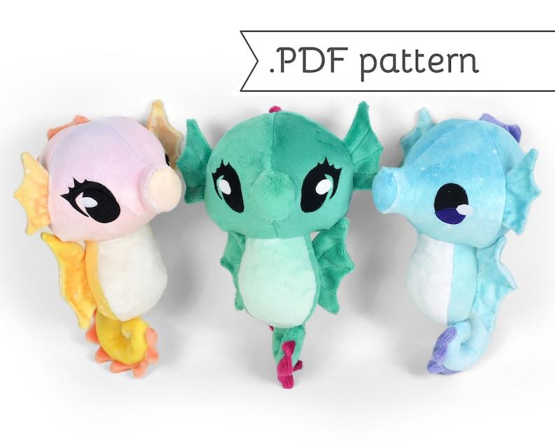 Seahorse Plush Sewing Pattern .pdf Tutorial image 0