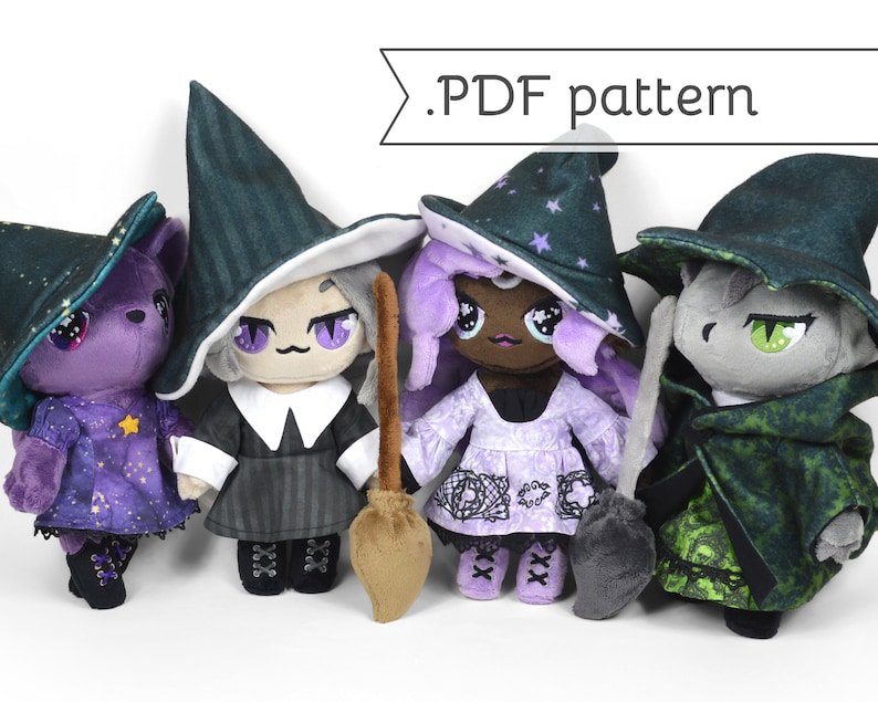 Witch Doll Plush Expansion Pack Sewing Pattern .pdf Tutorial image 0