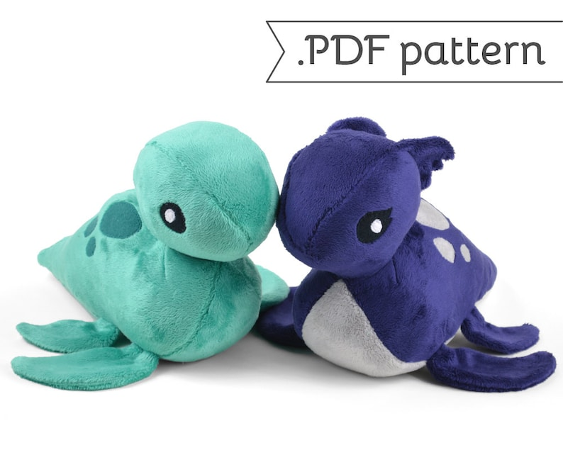 Loch Ness Monster Plush Nessie .pdf Sewing Pattern image 0