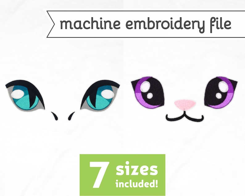 Dragon Eyes 11 Machine Embroidery File Design for Plush 7 image 0