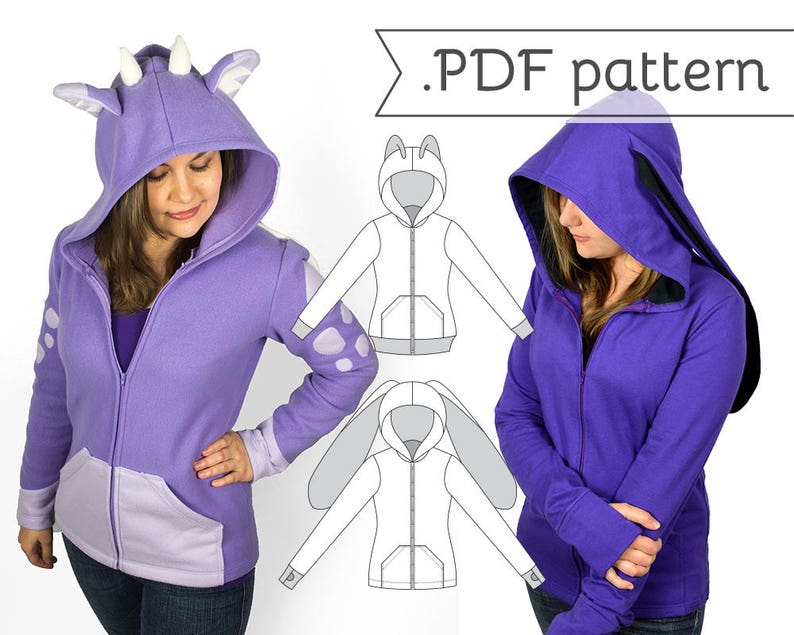 e11b10ee9da Women s Fitted Cosplay Hoodie Sewing Pattern .pdf Tutorial