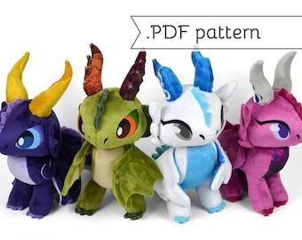 Wyvern & Dragon Chibi Plush Sewing Pattern .pdf Tutorial