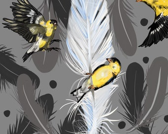 """Birds of a Feather, 8""""x8"""" Print"""