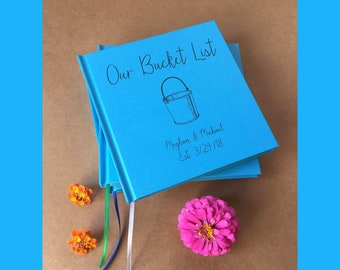 CUSTOM Our Bucket List Guest Book · Bucket List Wedding Decor · Our Bucket List Journal · Bucket List Gift for Bride and Groom · Bucket List