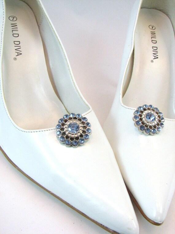 Something Blue Shoe Clips Light Blue