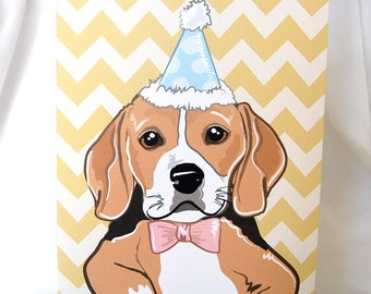Party Beagle Greeting Card