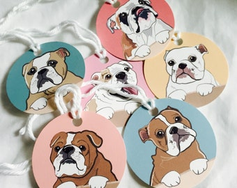LOT OF 15 PAPYRUS FRENCHIE BULLDOG DOGS GIFT TAGS CHRISTMAS GIFTS GIFT TAG