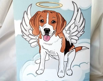 Angel Beagle Greeting Card