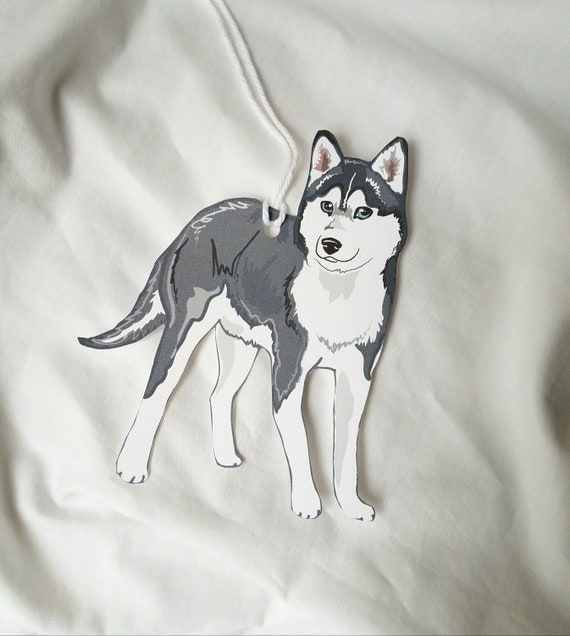 Present Favor Labels Siberian Husky Dog Christmas Gift Tags
