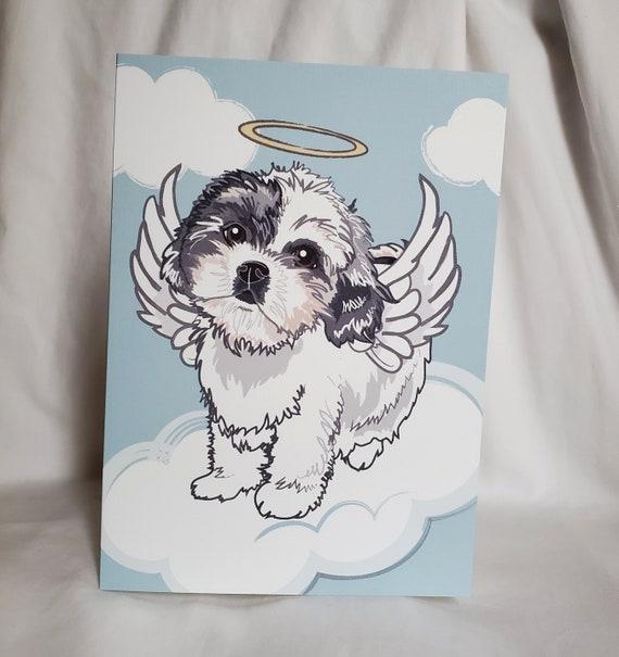 Dog Card Handmade Graduation Card Shih Tzu Graduation Card Shih Tzu Card Dog Graduation Card