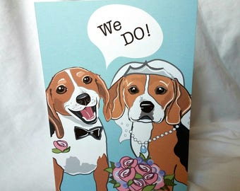 We Do Beagles - Greeting Card