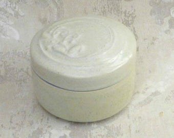 Decorative Lidded Jar or Box in Salty White