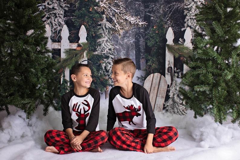 Buffalo Plaid Flannel Pants Kids Christmas Pajamas