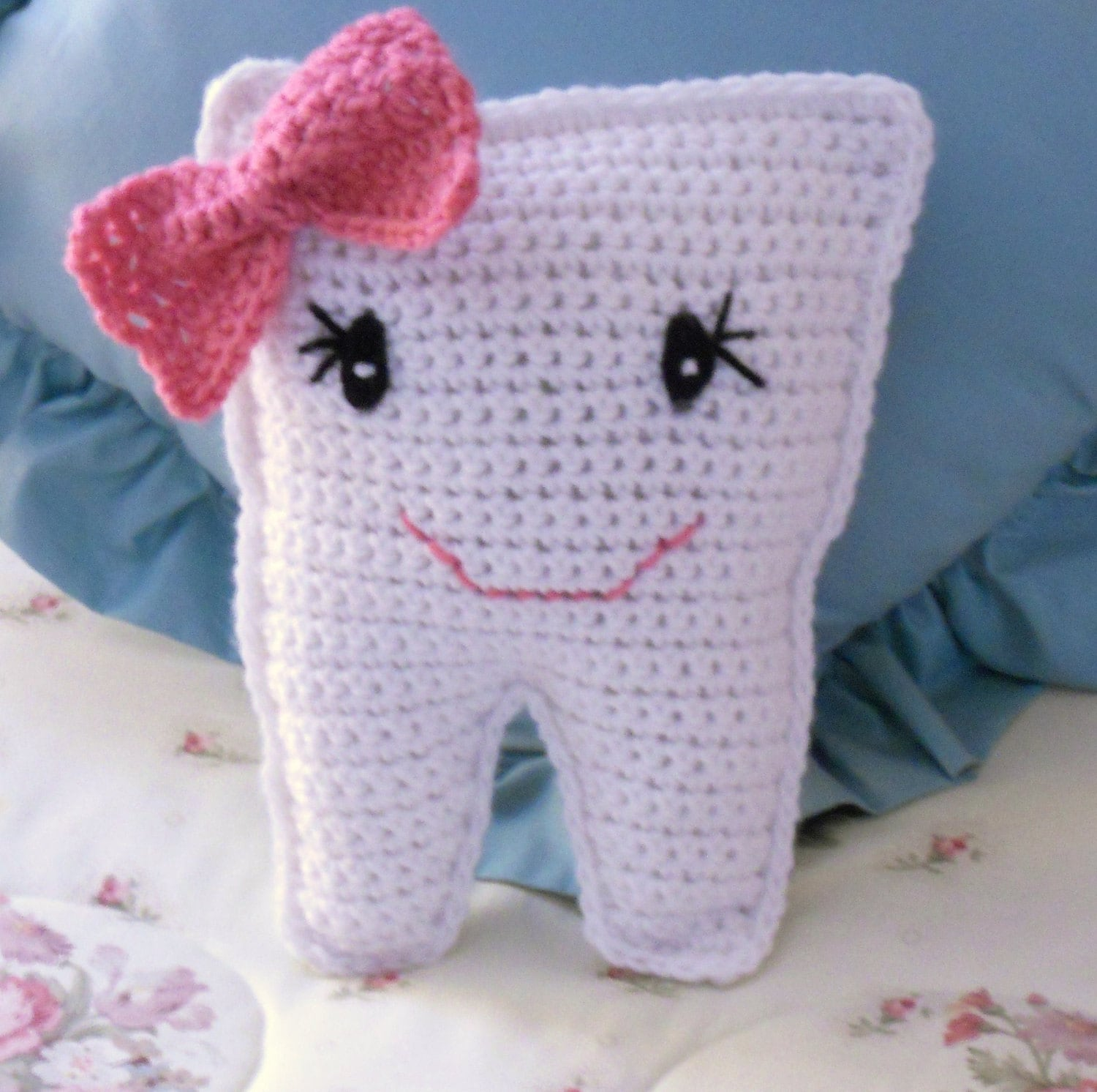 Crocheted Tooth Fairy Pillow Etsy