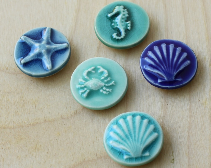 Set of 5 coastal magnets