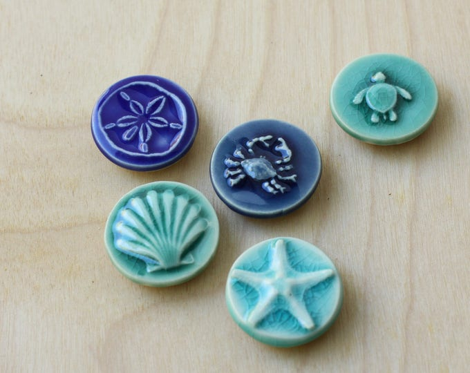 Set of 5 coastal magnets