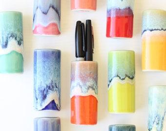 magnetic vase // handmade pen holder // bud vase pen magnet // magnetic spoon holder