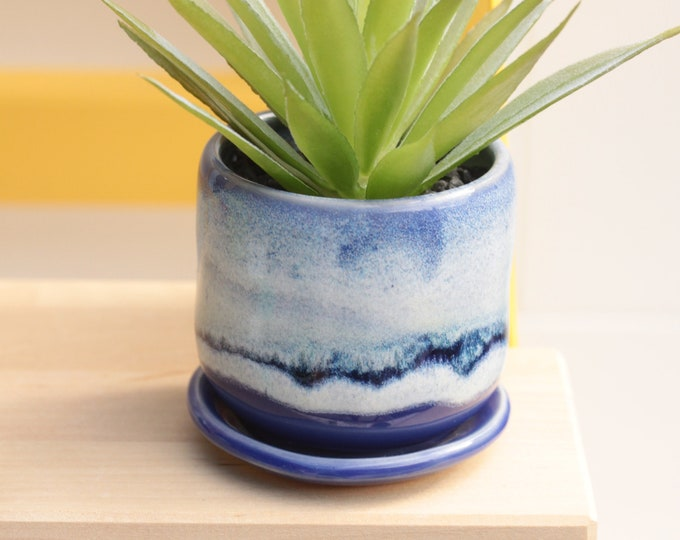 small purple planter // succulent container // boho decor // small planter