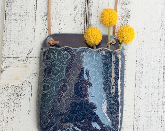 wall vase in blue