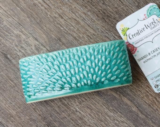 textured business card holder