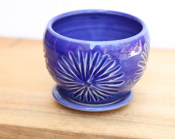 cobalt succulent planter // cactus planter // succulent pot // ceramic pot // flower pot