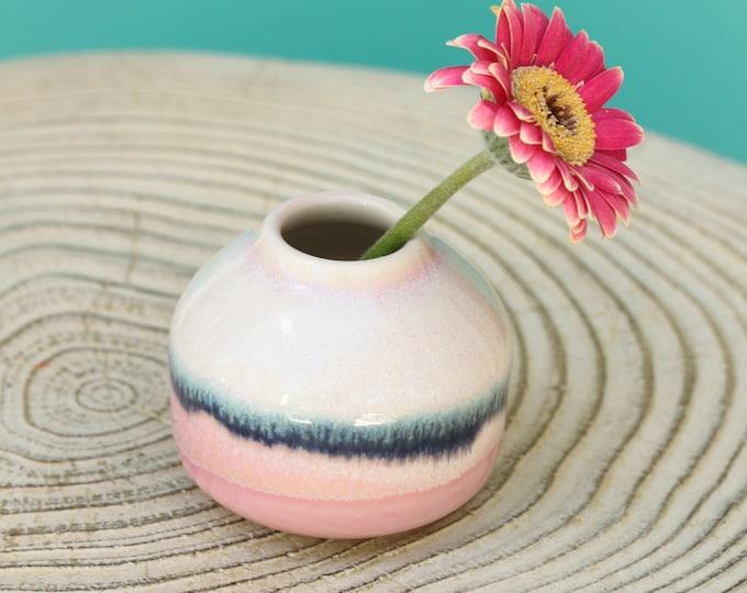 small pink  bud vase