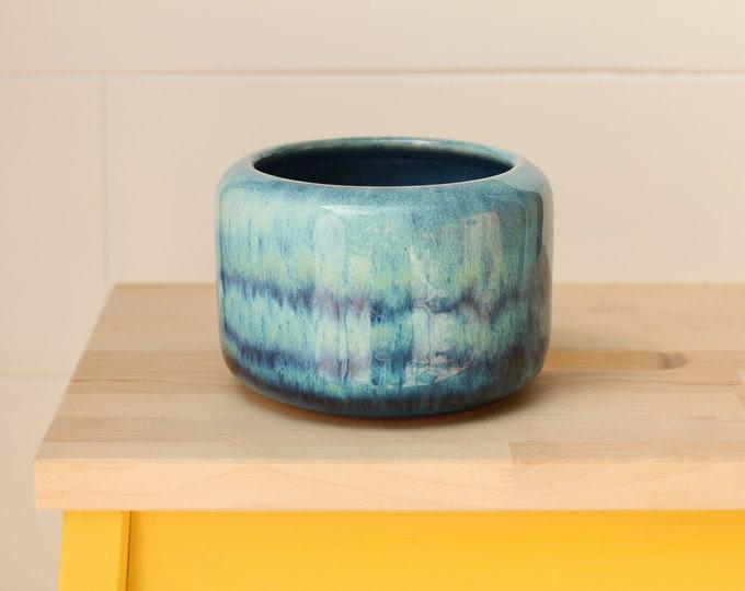 blue bud vase // coastal decor // boho vase // small flower vase