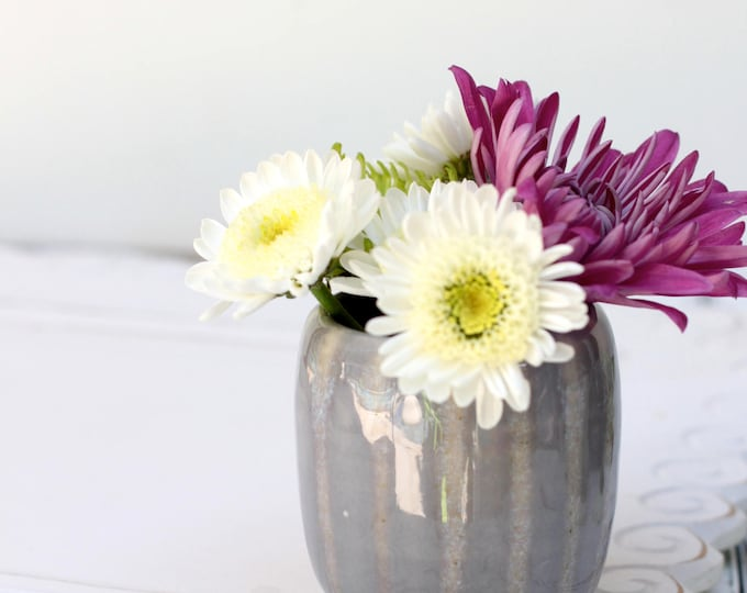 mini striped bud vase