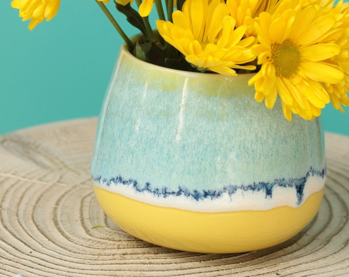 coastal vase // coastal decor // boho vase //  flower vase