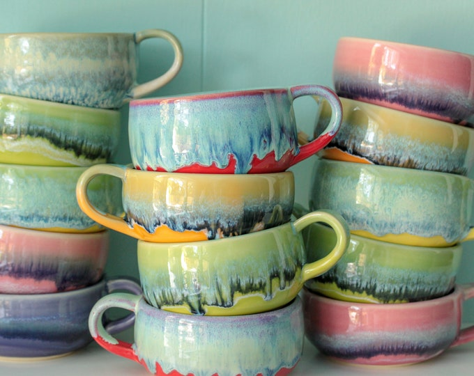 Featured listing image: IN STOCK //  soup mug // cappuccino cup //  large mug pottery // handmade mug