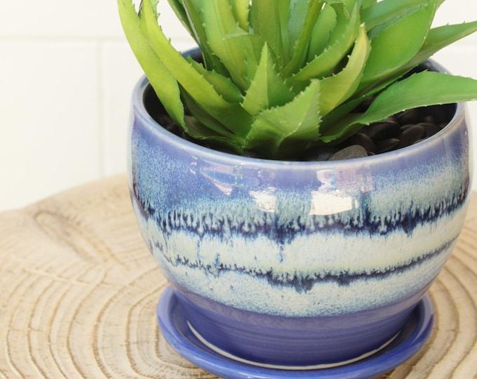purple planter // cactus planter // boho pot // ceramic pot // flower pot