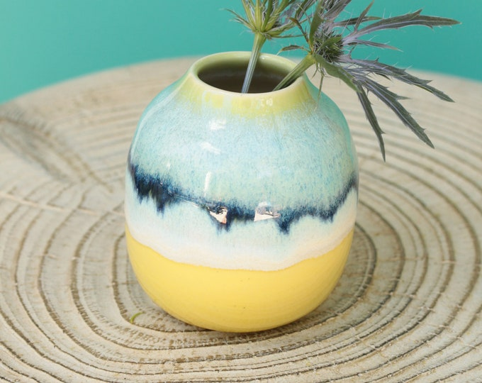 SECONDS boho porcelain bottle bud vase