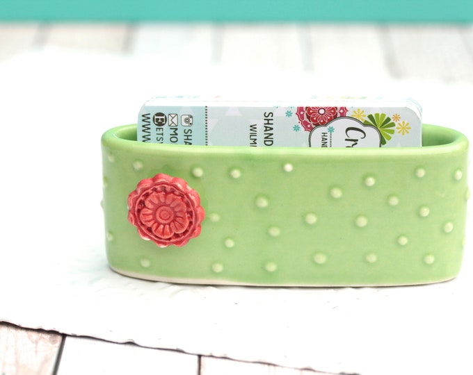cactus business card holder // cactus inspired // cactus decor