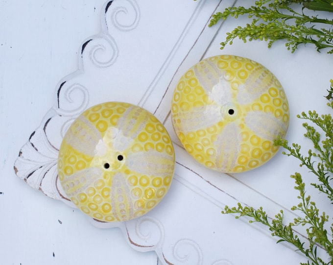 Porcelain Sea Urchin Salt & Pepper Shakers