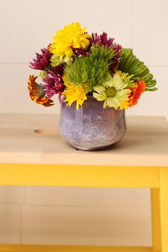 purple bud vase // accent vase // boho vase // small flower vase