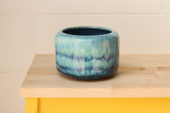 blue bud vase // coastal decor // boho vase // small flower vase