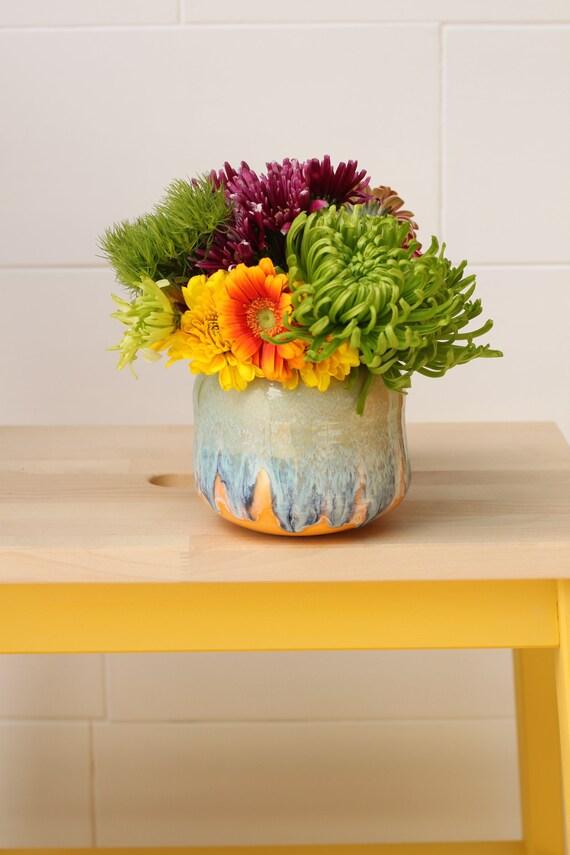 orange bud vase // coastal decor // boho vase // small flower vase