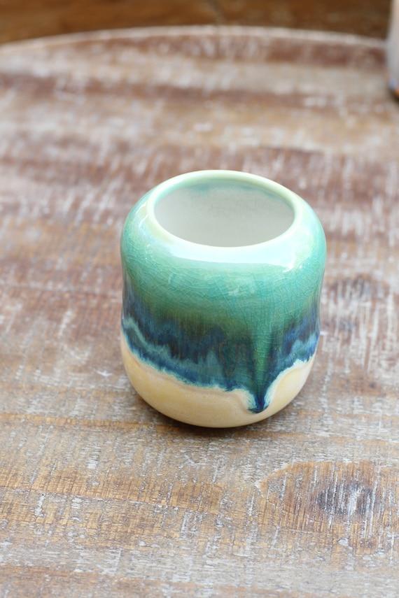 window sill bud vase // boho vase // boho decor // small flower vase