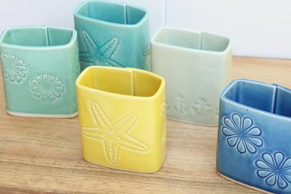 SECONDS SALE porcelain pen holder // ceramic vase