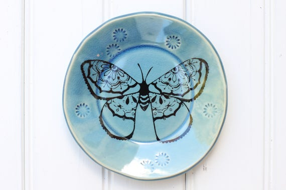 butterfly dish // tapas plate // jewelry storage // dessert plate  // moth // butterfly