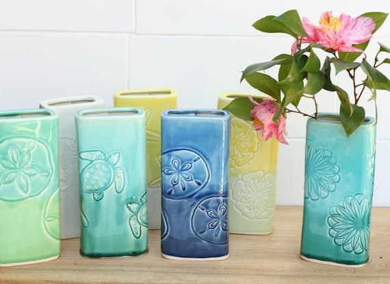 SALE porcelain rectangle vase