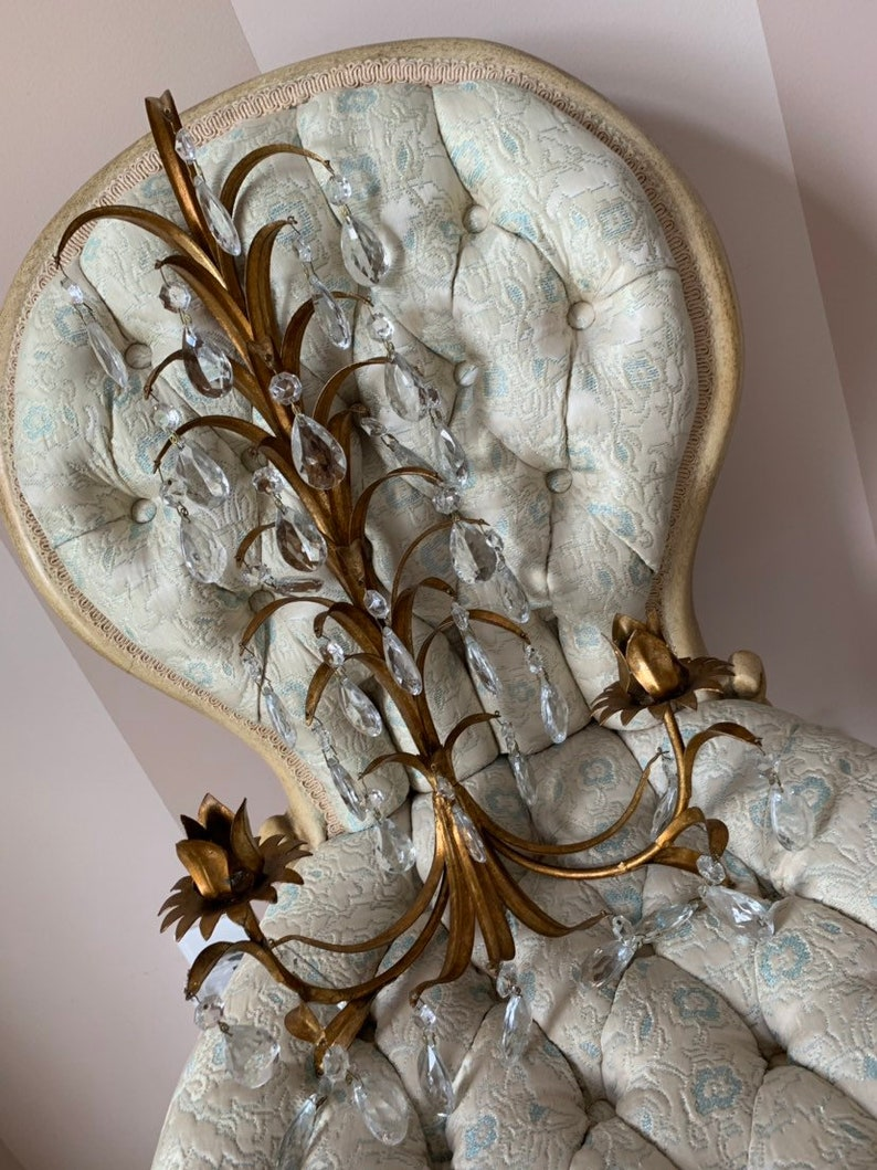 Italian vintage wall sconce - a beautiful option for your French country home.