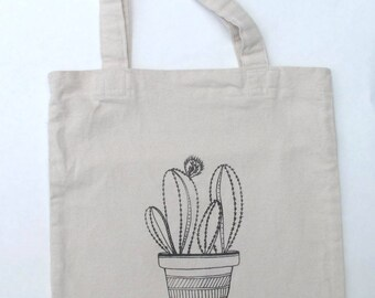 Tote Bag - Cactus - Choose your ink color