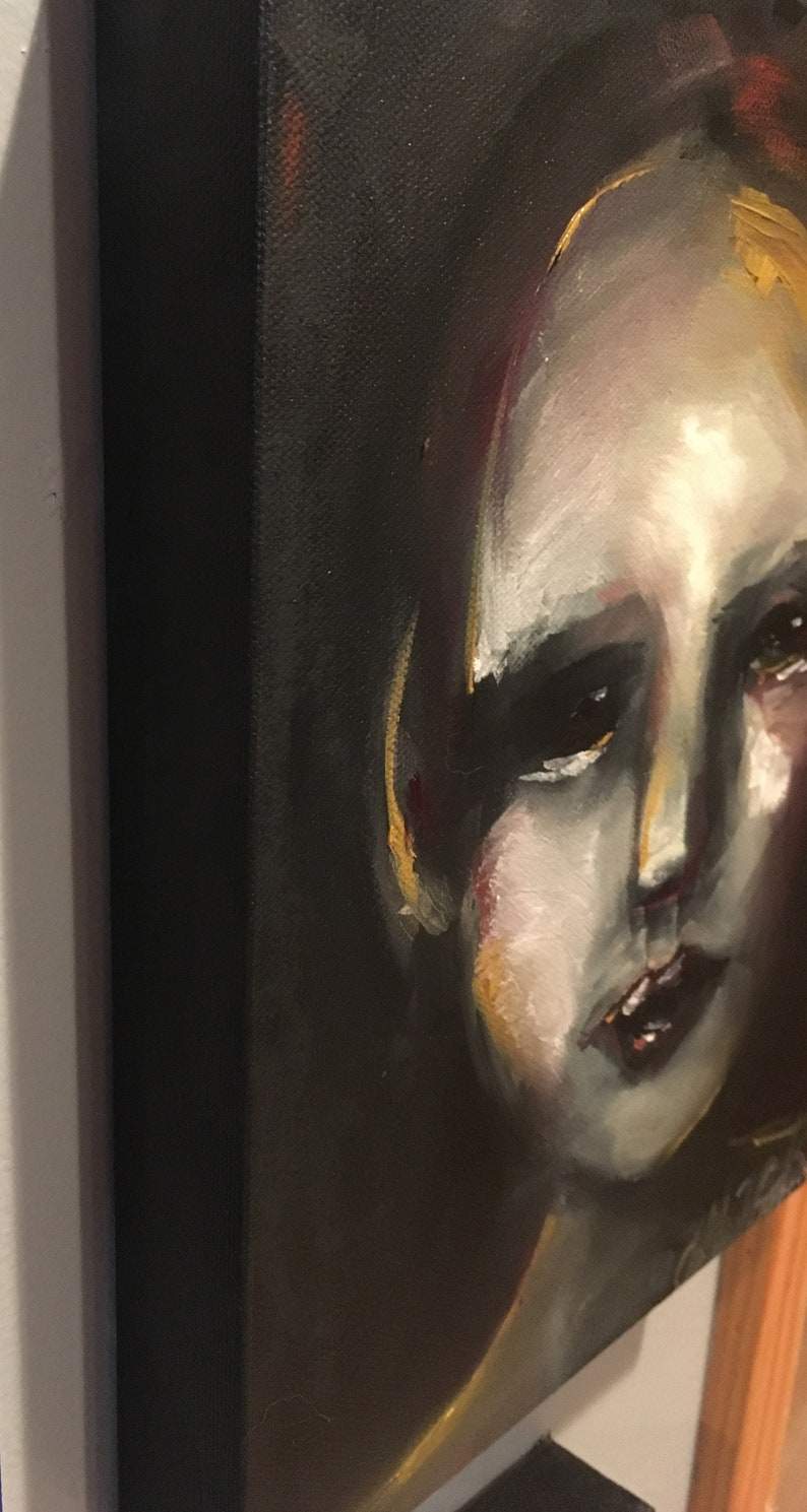 Twisted Face Small Painting Original Hand Painted Oil Painting