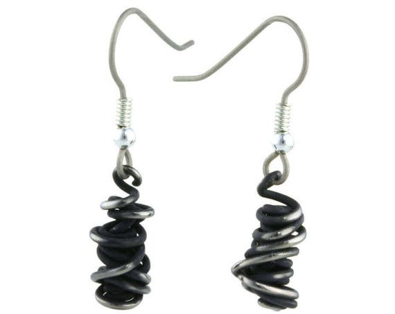 Chaos Small Drop Titanium Earrings, 100% Hypoallergenic, Sensitive ear