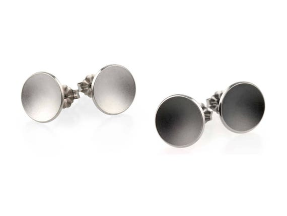 Round Dome Titanium Stud Earrings, 100% Hypoallergenic, Sensitive ear