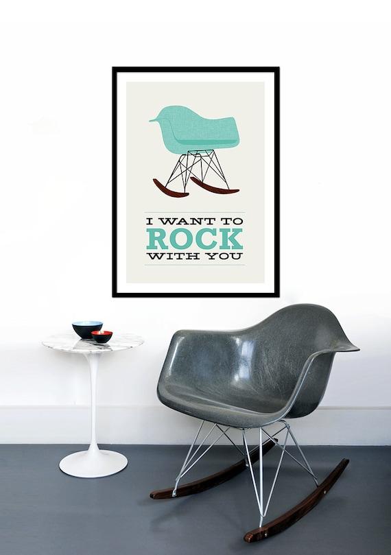Eames Poster Print Mitte Jahrhundert Moderne Stuhl Lounge | Etsy