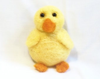 Official Website Needle Felted Animal Life Size Wool Plush Baby Duck Spring Ooak Artist Original Dolls & Bears