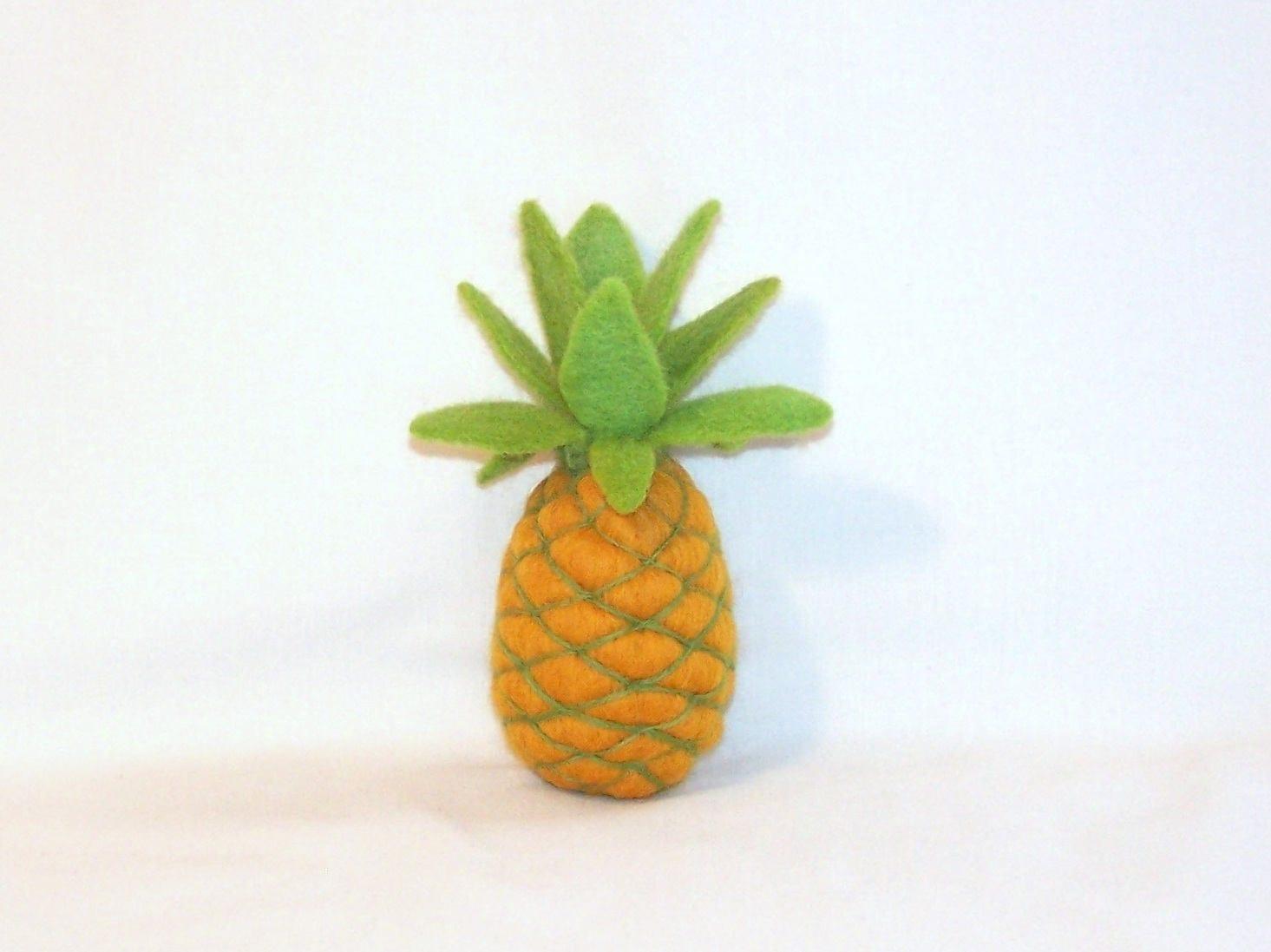 Nadel gefilzt Ananas Miniatur Filz Ananas spielen Essen