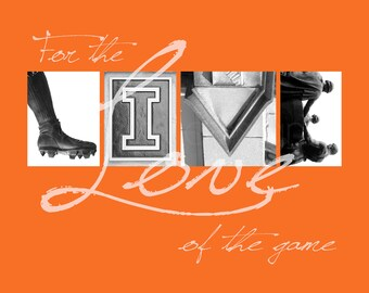 """Illinois Fighting Illini """"For the Love of the Game"""" Photographic Print"""